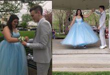 Photo of 戀愛了!太貴買不起 暖男替舞伴親手做一件公主禮服